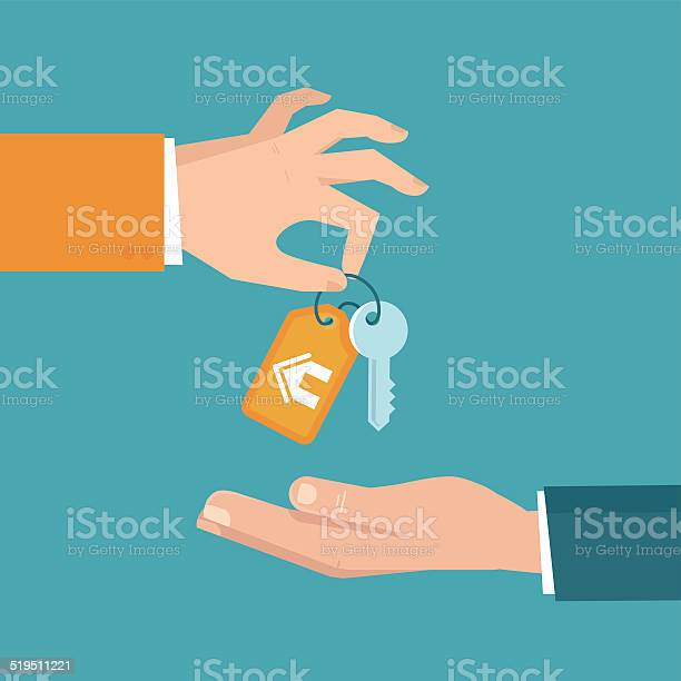 Vector Real Estate Concept In Flat Style Stock Illustration - Download Image Now