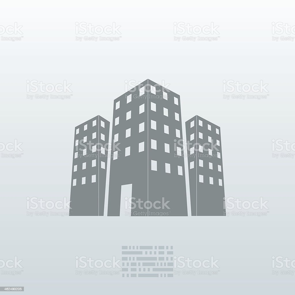Vector real estate icon background. Eps10 royalty-free stock vector art