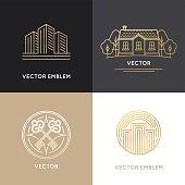 Vector real estate logo design templates