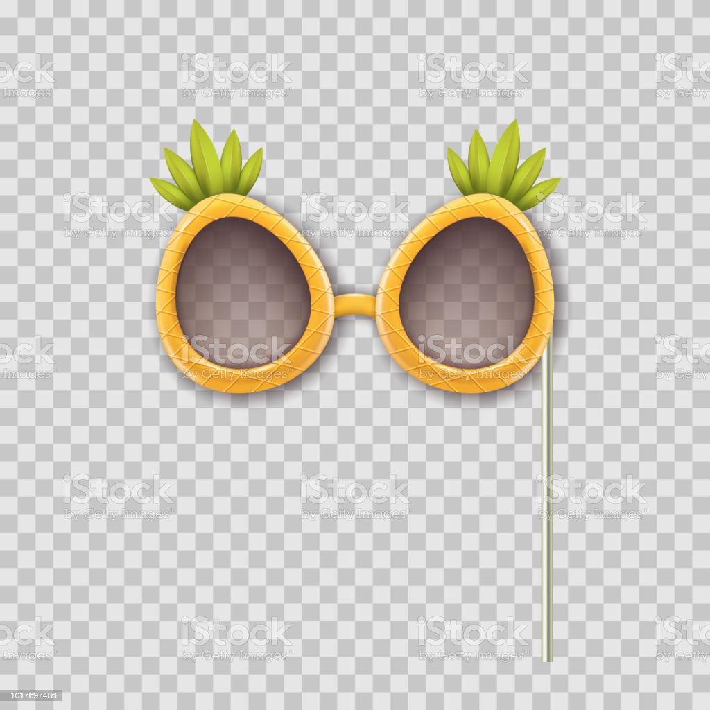 18ddad72073 Vector realistic 3d illustration of photo booth props pineapple glasses.  Object isolated on transparent background. - Illustration .