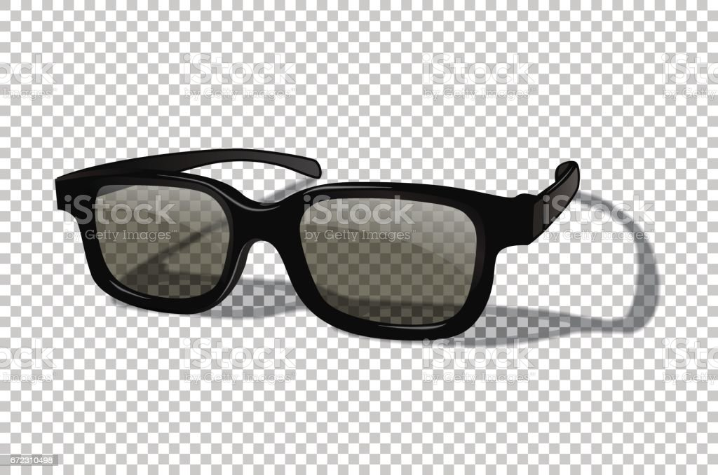Vector realistic 3D or sunglasses isolated on transparent background. vector art illustration