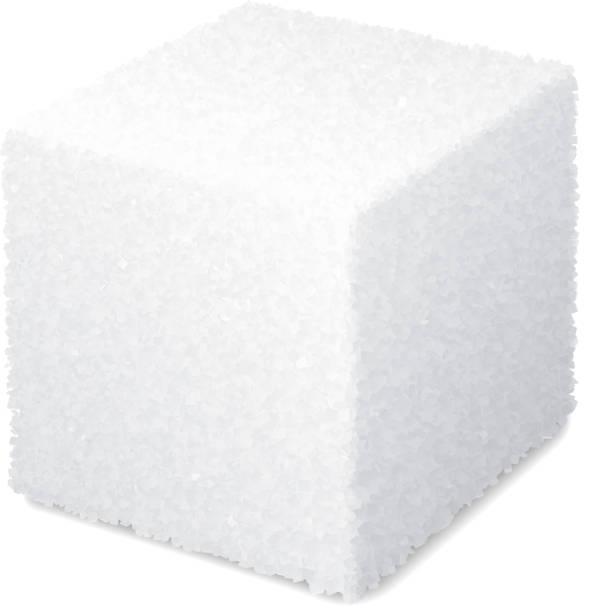 ilustrações de stock, clip art, desenhos animados e ícones de vector realistic 3d sugar cube isolated on white background - açúcar
