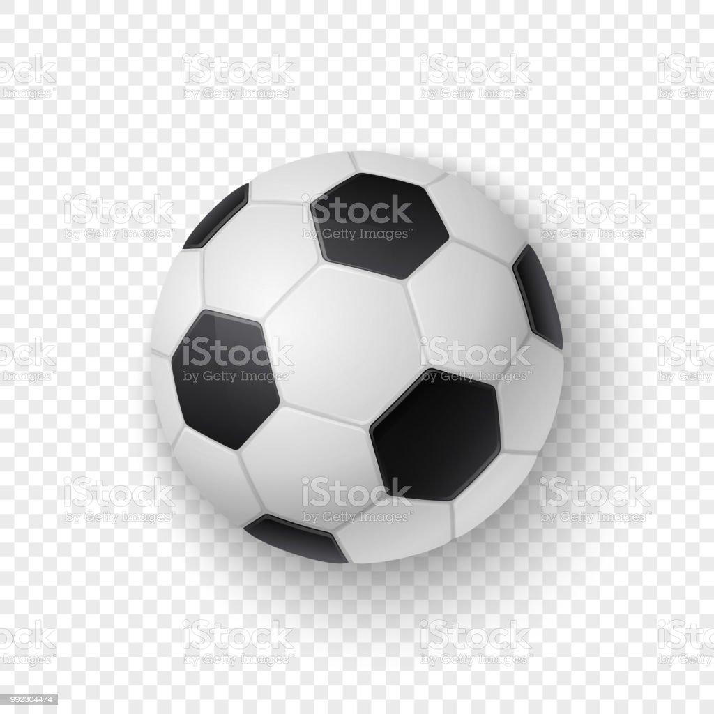 Vektorrealistische 3d Weißen Und Schwarzen Klassischen Fußball ...