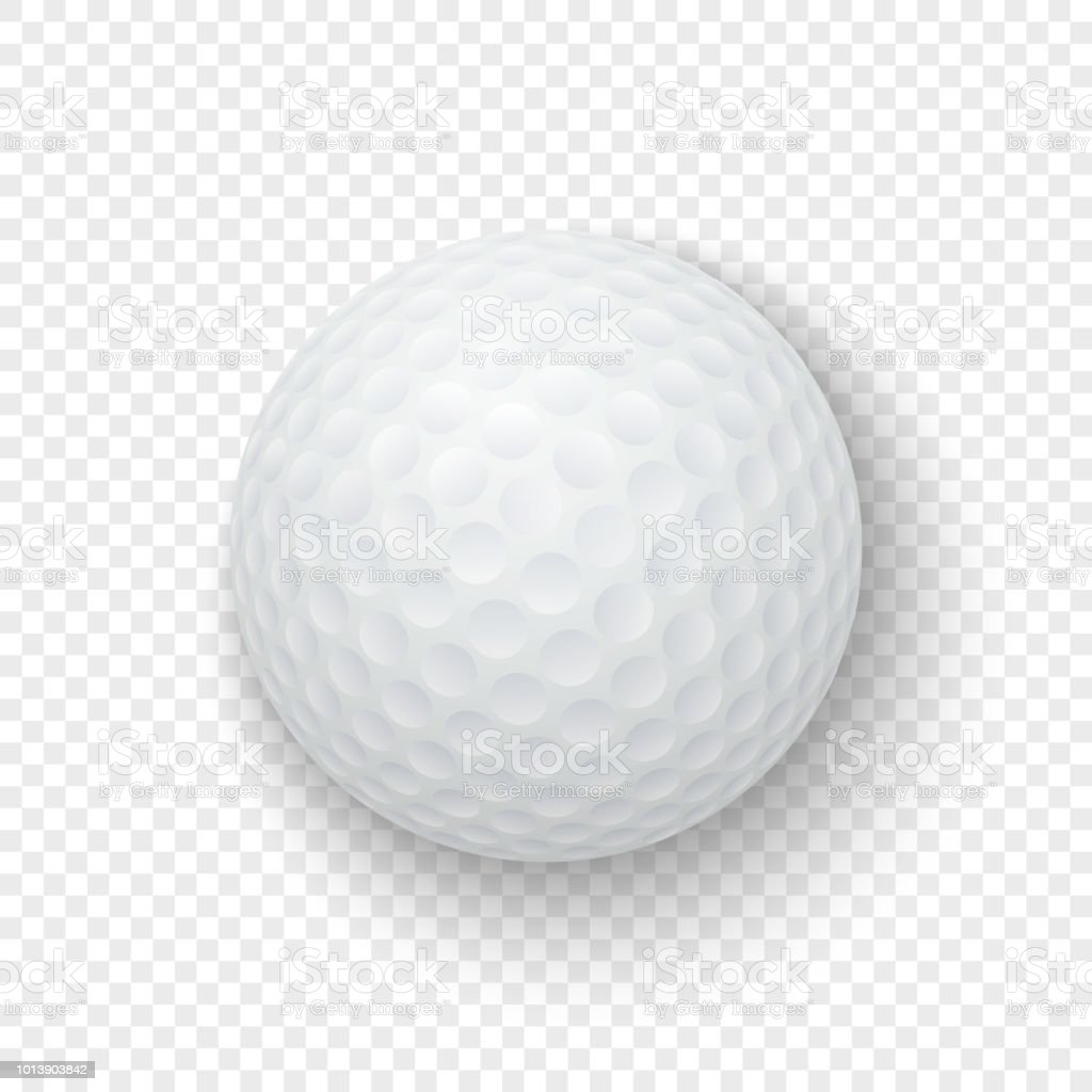 Vector Realistic 3d White Classic Golf Ball Icon Closeup Isolated On Transparency Grid Background Design Template For Graphics Mockup Top View Stock Illustration Download Image Now Istock