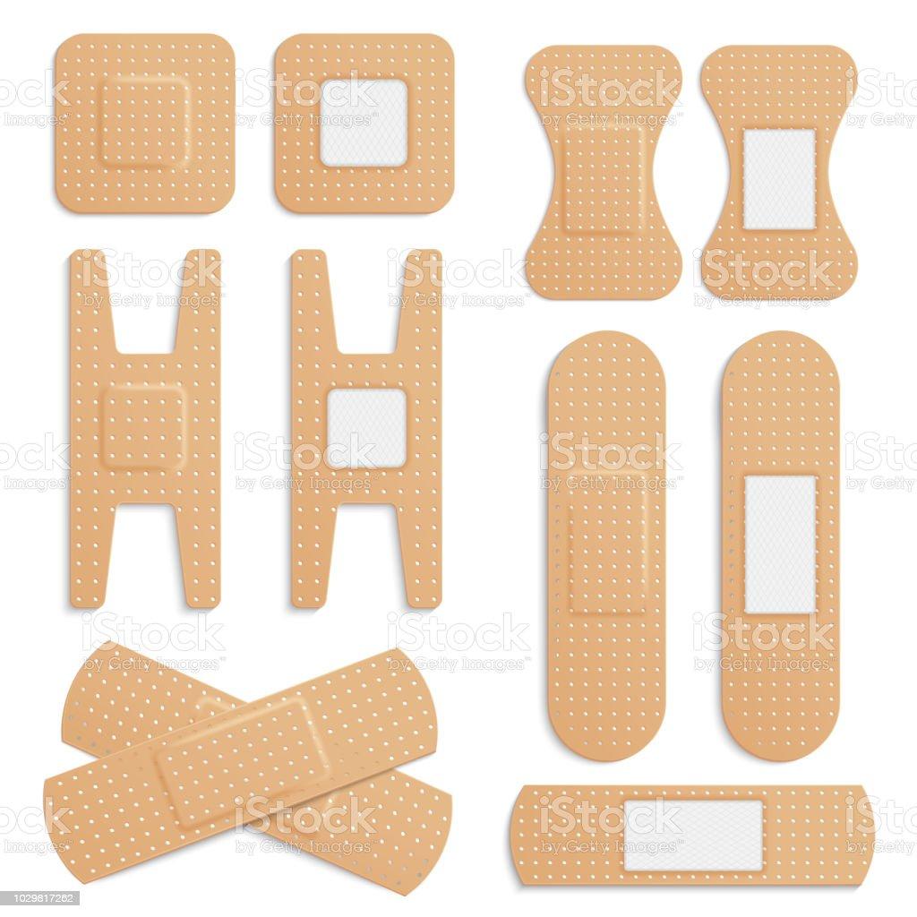 Vector Realistic Adhesive Elastic Medical Plaster Bandage