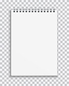 istock Vector realistic blank notebook isolated on transparent background 936321054