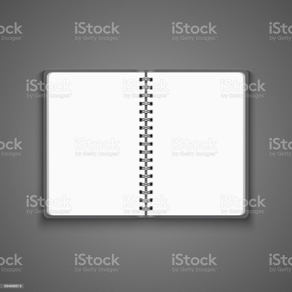 Vector Realistic Blank Open Notebook vector art illustration
