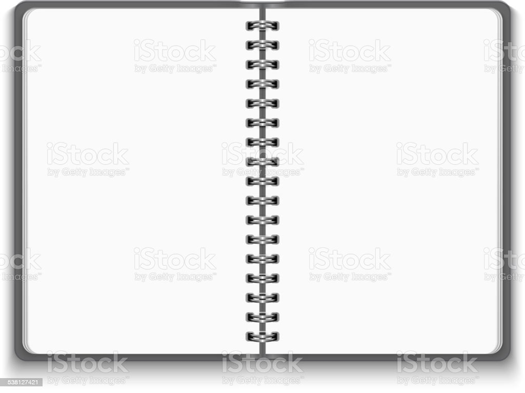 Vector Realistic Blank Open Notebook vector art illustration