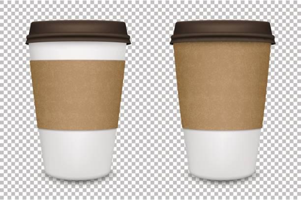 ilustrações de stock, clip art, desenhos animados e ícones de vector realistic blank paper coffee cup set isolated. vector eps10 - coffe shop