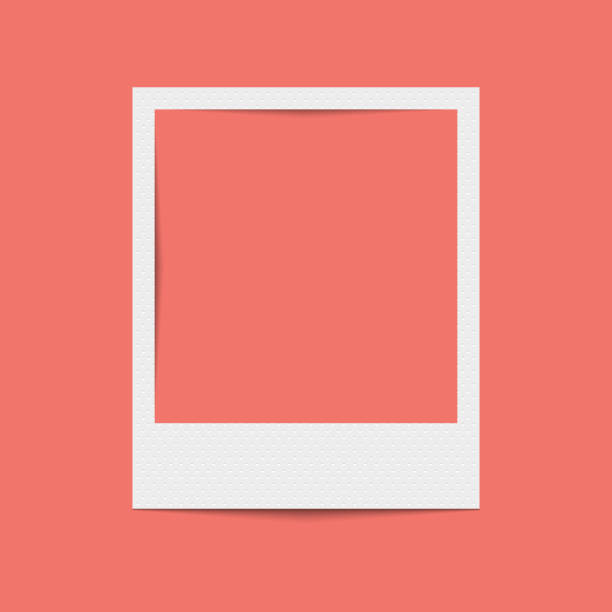 Vector realistic blank photo frame Vector realistic blank photo frame polaroid frame stock illustrations