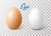 istock Vector realistic chicken brown egg, easter spring 908808556
