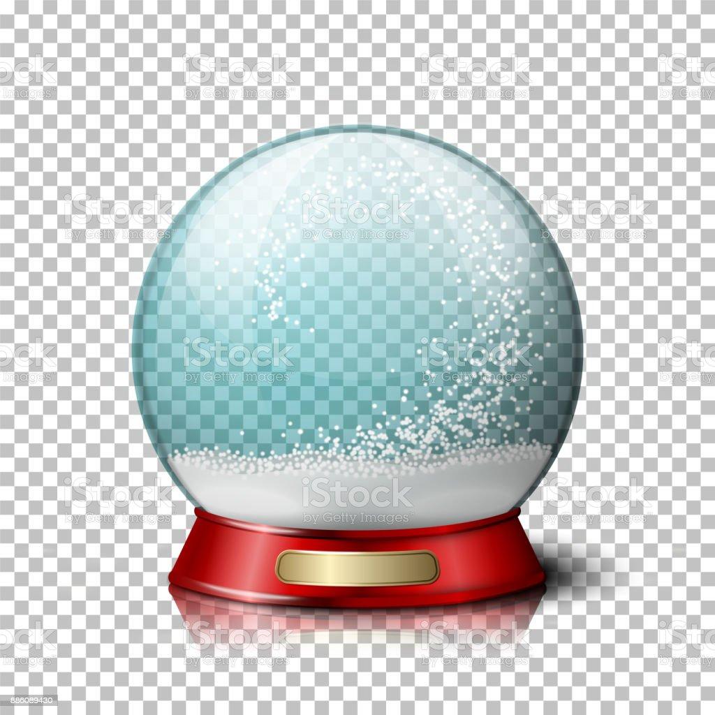Vector realistic christmas snow globe. vector art illustration