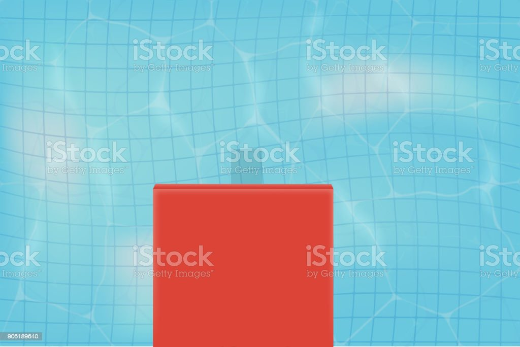 Vector Realistic Clear Water In The Pool And Ceramic Tile On The ...