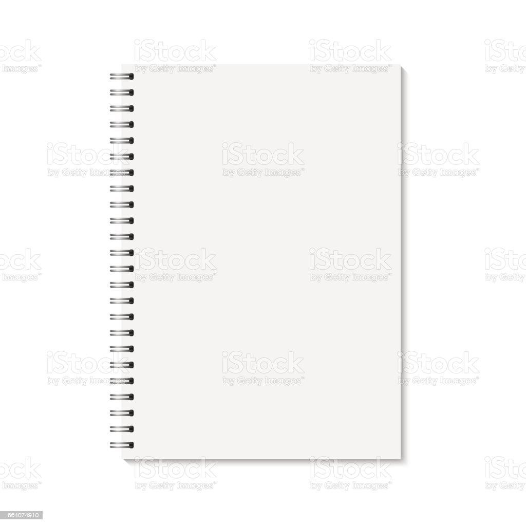 Vector realistic closed notebook. vector art illustration
