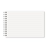 Vector realistic closed spiral bound notebook.