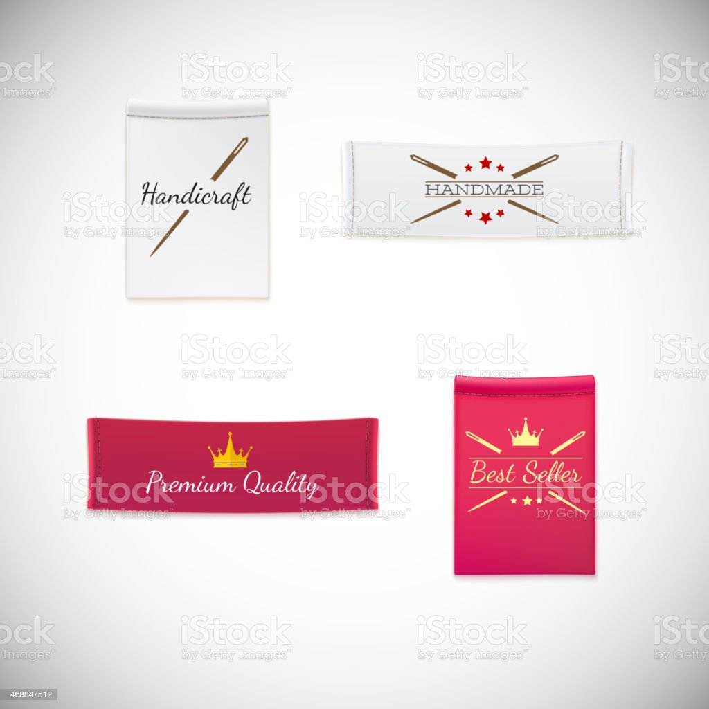 Vector realistic clothing label. vector art illustration