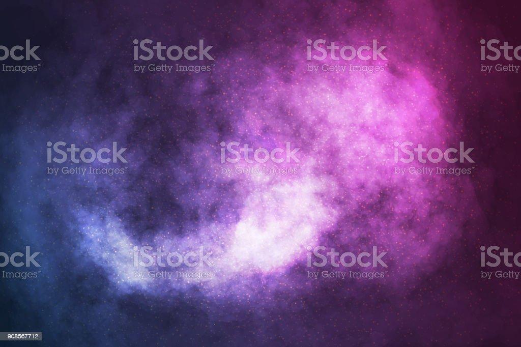 Fondo de vector realista galaxia cósmica. Concepto de espacio, nebulosa y cosmos. - ilustración de arte vectorial