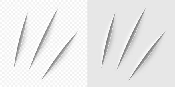 wektor realistyczne cięcie nożem biurowym - ciąć stock illustrations