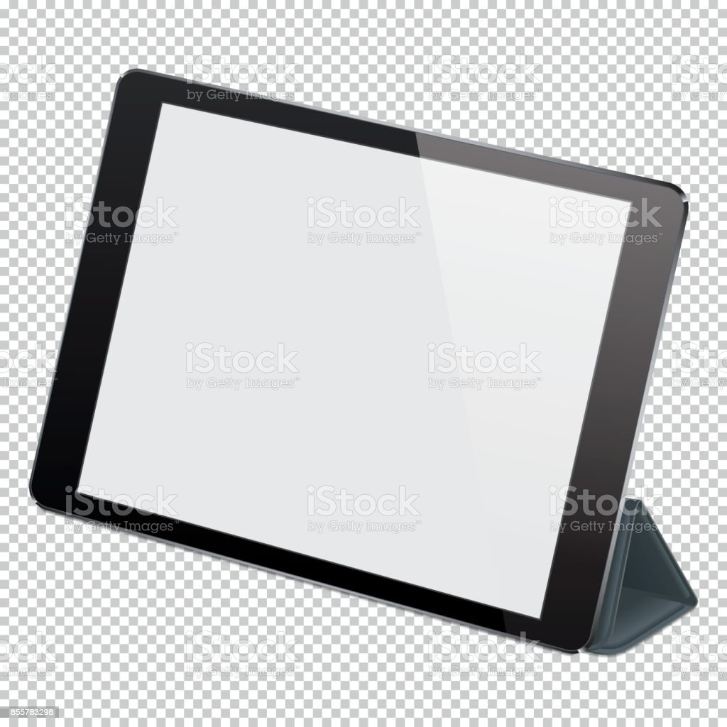Vector realistic digital PC tablet vector art illustration
