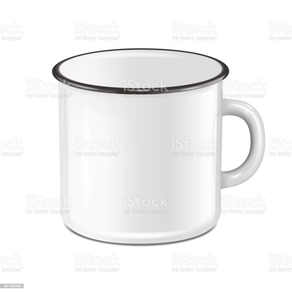 vector realistic enamel metal white mug isolated on white background eps10 design template for mock up stock illustration download image now istock https www istockphoto com vector vector realistic enamel metal white mug isolated on white background eps10 design gm681585982 125002487