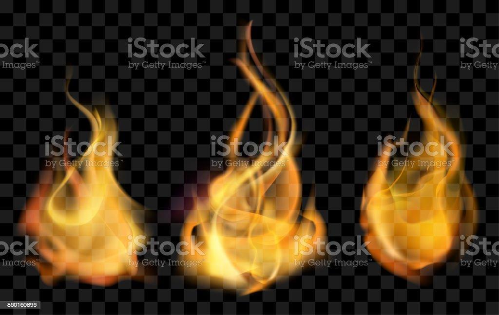 vetor de fogo realista - ilustração de arte em vetor