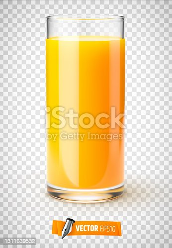 istock Vector realistic glass of fruit juice 1311639532
