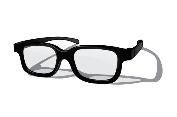 vector realistic glasses isolated on white background. - okulary stock illustrations