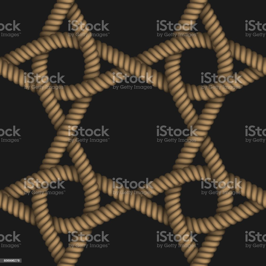 Vector realistic illustration seamless pattern of fabric braided colorful cords. vector art illustration