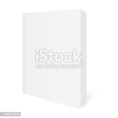 Vector realistic image of a soft cover book.