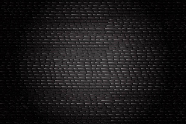 Vector realistic isolated black brick wall background for decoration and covering. vector art illustration