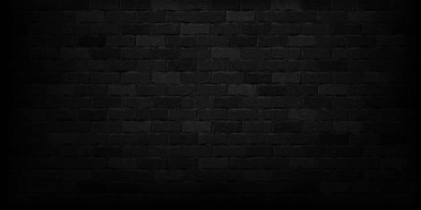wektor realistyczne izolowane czarne tło ściany cegły dla szablonu i dekoracji układu. - ciemny stock illustrations