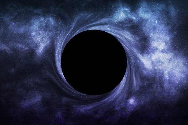 Vector realistic isolated Black Hole in space background for template decoration and wallpaper covering. Concept of universe and wormhole. Vector realistic isolated Black Hole in space background for template decoration and wallpaper covering. Concept of universe and wormhole. black hole stock illustrations