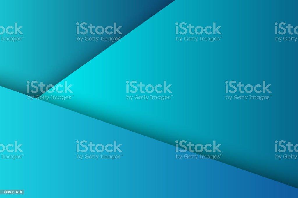 Vector Realiste Isole Fond Bleu Avec Papier Calques Origami Style De Decoration Modele Abstrait Geometrique
