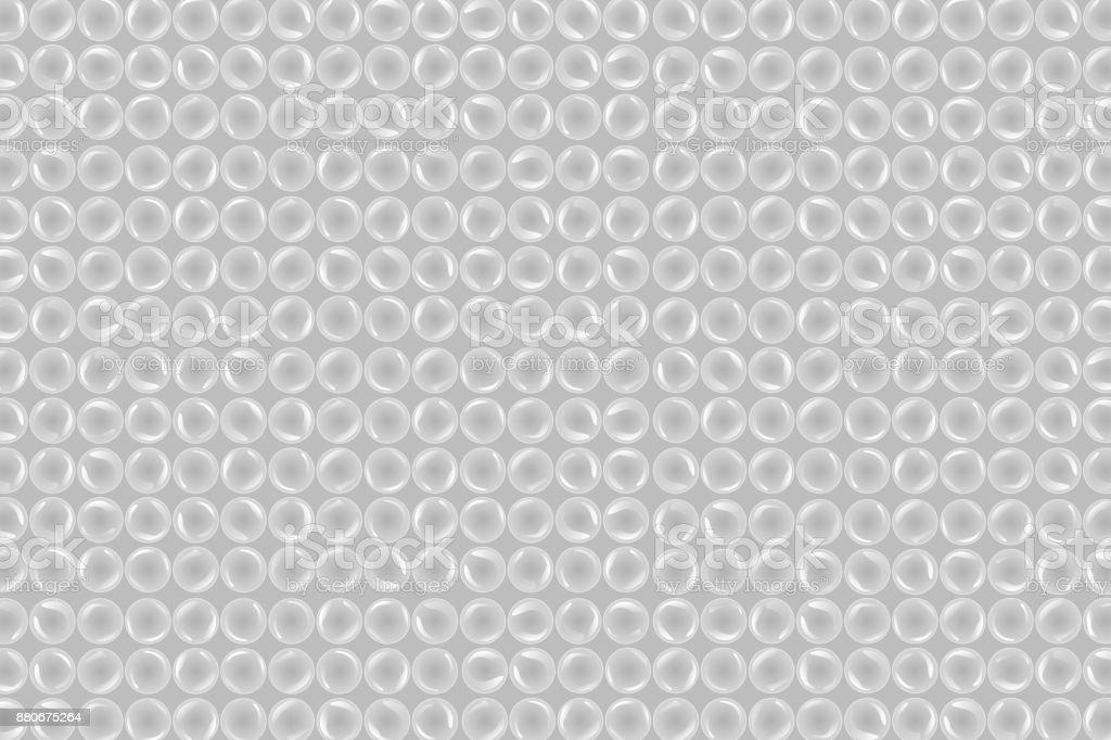 Realistische Vektor Isoliert Bubble Wrap Background Für Dekoration