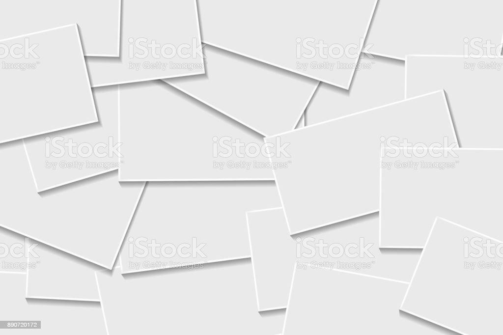 Realistische Vektor Isoliert Visitenkarten Realistische