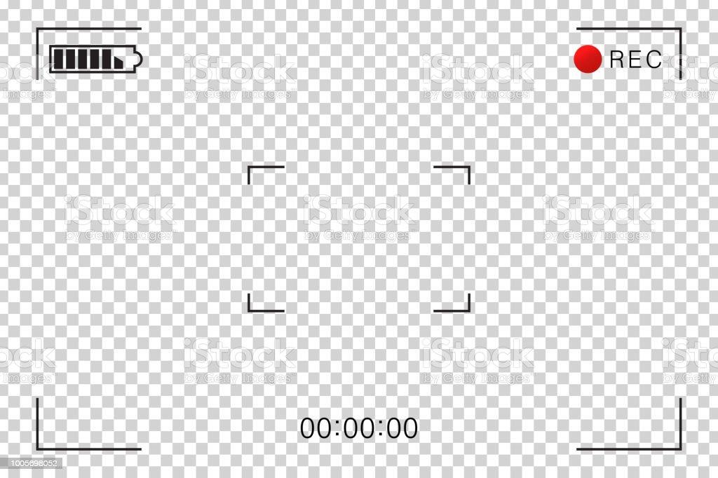 Vector réaliste isolé caméscope écran vidéo cadre pour décoration et revêtement sur l'arrière-plan transparent. Concept de scène de cinéma, photographie et vidéo. - clipart vectoriel de Admirer le paysage libre de droits