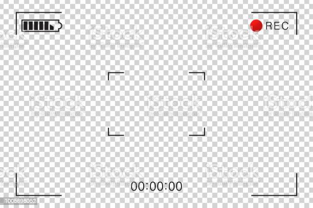 Vector Réaliste Isolé Caméscope Écran Vidéo Cadre Pour Décoration Et Revêtement Sur Larrièreplan Transparent Concept De Scène De Cinéma Photographie Et Vidéo Vecteurs libres de droits et plus d'images vectorielles de Admirer le paysage