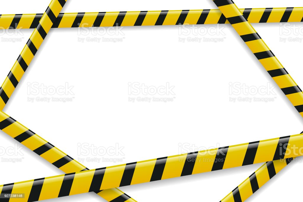 vector realistic isolated caution tape frame for decoration and rh istockphoto com caution tape vector art