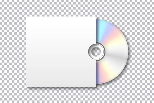 ilustrações, clipart, desenhos animados e ícones de vector realista isolado disco para decoração e cobertura no plano de fundo transparente. modelo em branco para a identidade da marca. - cd