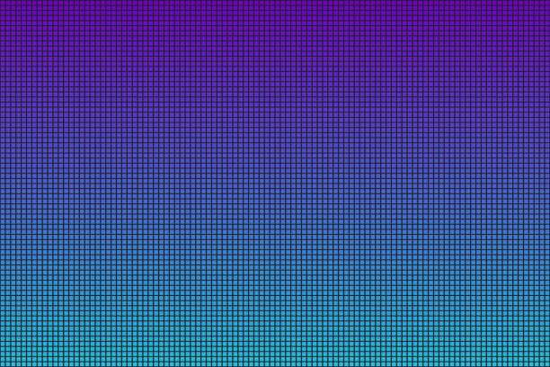 ilustrações de stock, clip art, desenhos animados e ícones de vector realistic isolated gradient led screen background for decoration and covering. - led painel