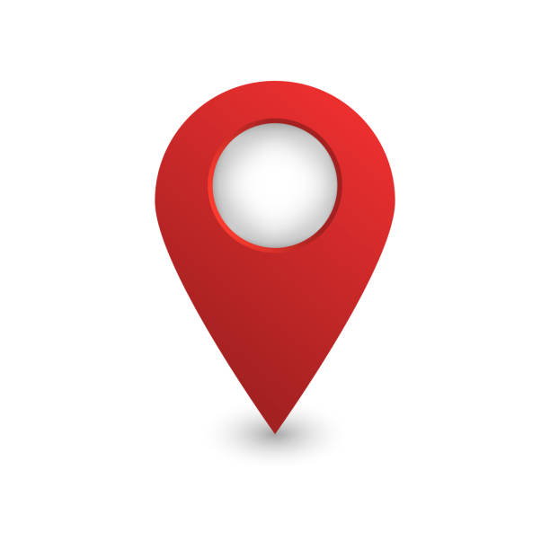 Vector realistic isolated map pin on the white background. Concept of navigation. Vector realistic isolated map pin on the white background. Concept of navigation. pointing stock illustrations