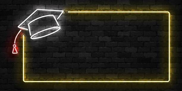 Realistische Vektor isoliert Leuchtreklame der Graduierung Frame Symbol für Vorlage Dekoration und Layout auf dem Hintergrund der Wand abdecken. – Vektorgrafik