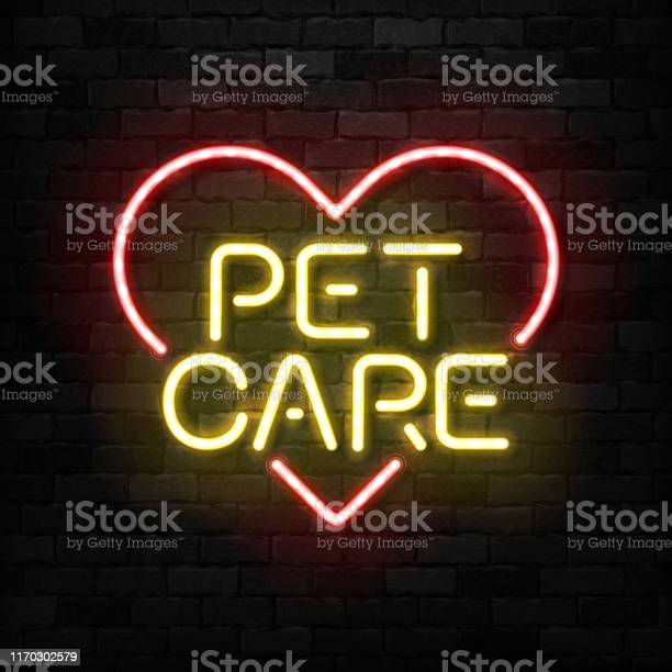 Vector realistic isolated neon sign of pet care icon for template vector id1170302579?b=1&k=6&m=1170302579&s=612x612&h=5ny19czewujorq9e7pknbpe9gefyfxf67nhpayyquym=