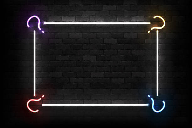 vector realistic isolated neon sign of quiz frame  for template decoration and covering on the wall background. concept of trivia night and question. - тайна stock illustrations