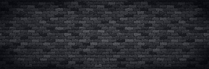 Vector realistic isolated panoramic brick wall background for template and wallpaper decoration.
