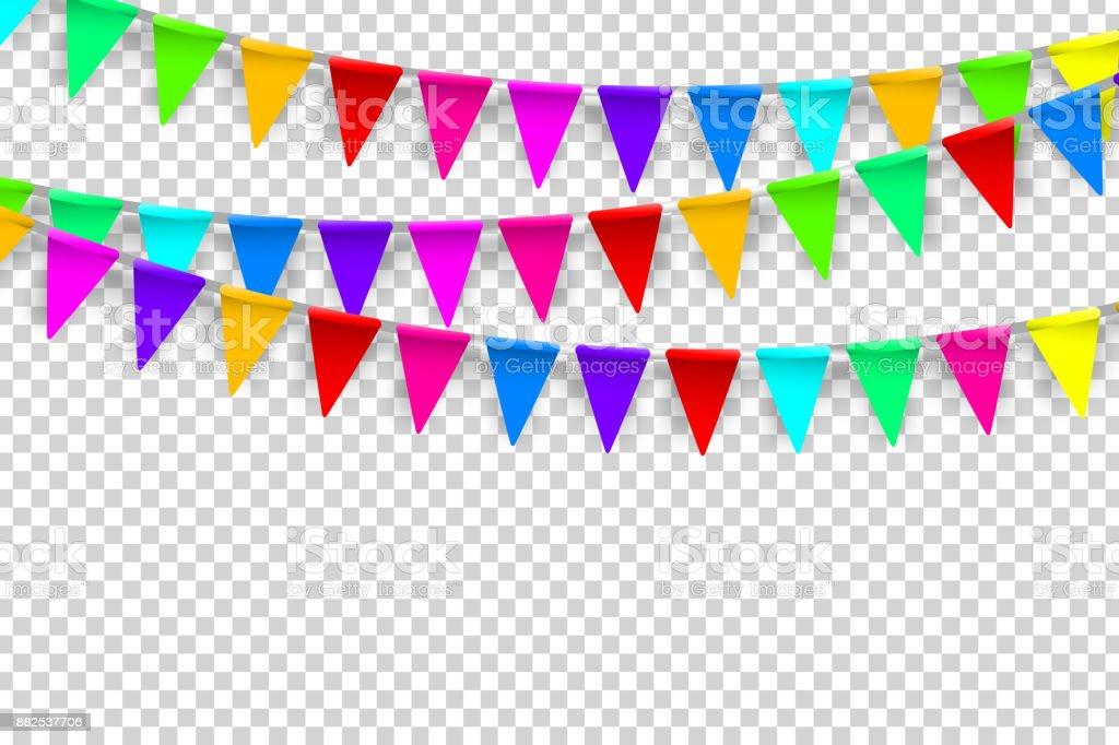 Ilustración De Banderas De Partido Realista Vector
