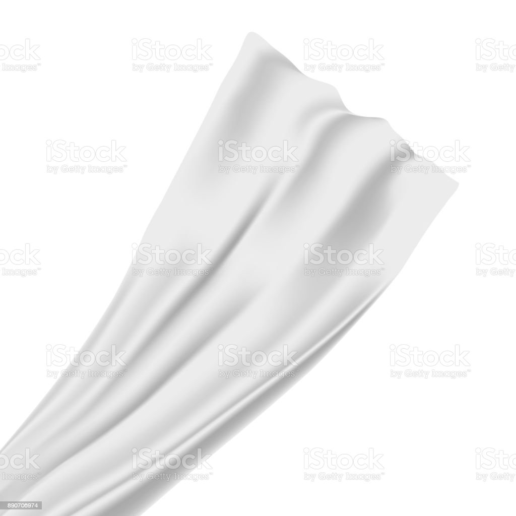 Vector realistic isolated satin silk fabric on the white background for decoration and covering. vector art illustration
