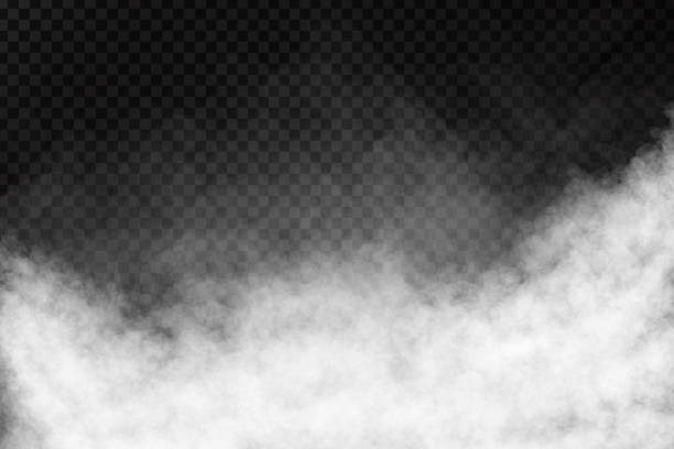 vector realistic isolated smoke effect on the transparent background. - chmura stock illustrations