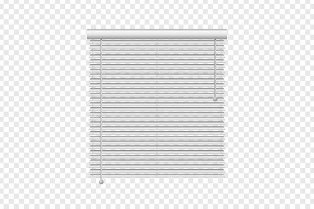 vector realistic isolated vertical window blinds for decoration and covering on the transparent background. concept of home interior and window shutters. - жалюзийный тип stock illustrations