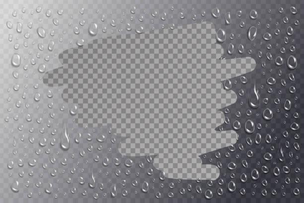 realistische vektor isoliert wassertropfen für dekoration und verkleidung auf dem transparenten hintergrund. - fenster putzen stock-grafiken, -clipart, -cartoons und -symbole